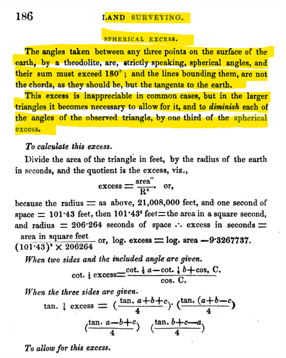 SPHERICAL EXCESS A TREATISE ON LAND SURVEYING AND LEVELLING