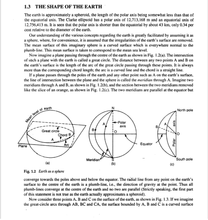 SPHERICAL EXCESS TEXTBOOK OF SURVEYING