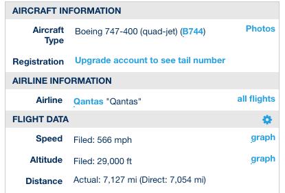 QF 27 actual data